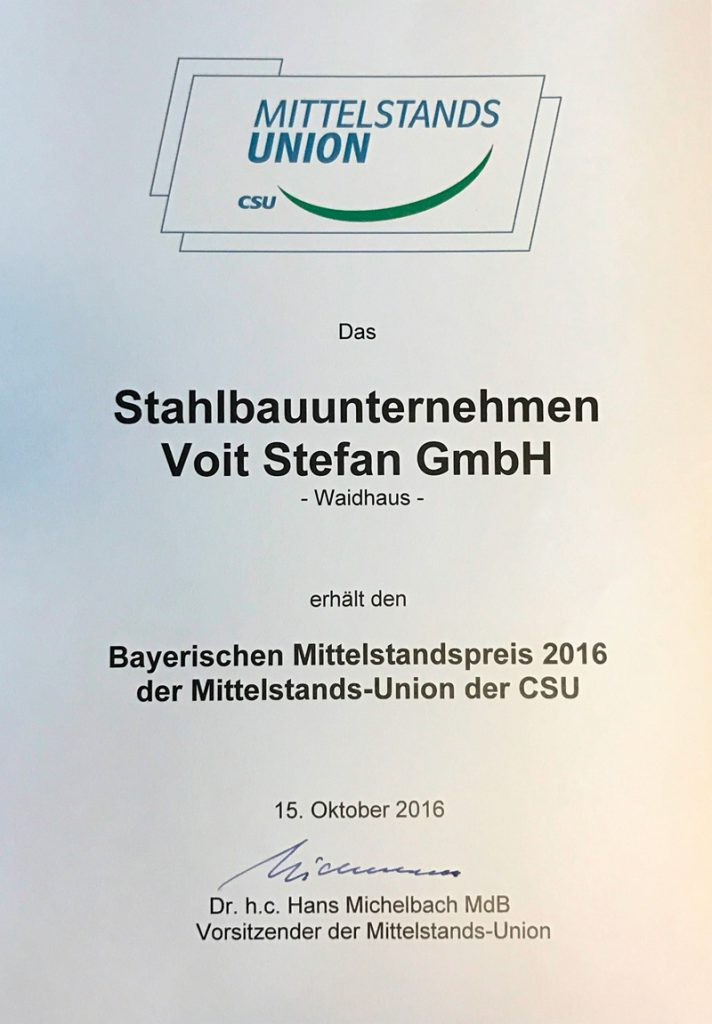 Urkunde MU 2016